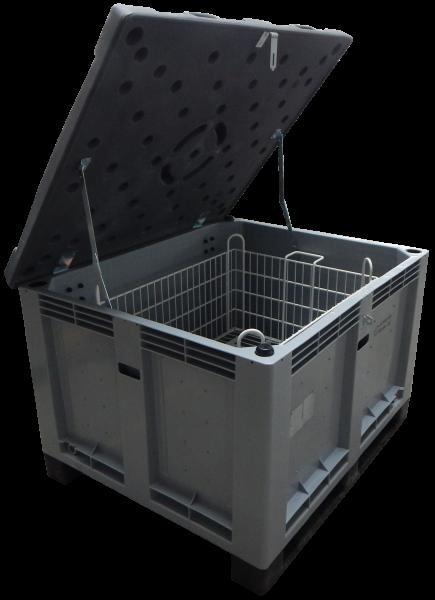 Genius Lio Guard M-Box Advanced Kunststoff-Behälter für Li-Ionen-Akkus inkl. Pyrobubbles