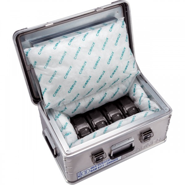 ZARGES K 470 - Akku Safe / Akkubox / Lithium-Ionen-Akkus inkl. CIRRUX Kissen