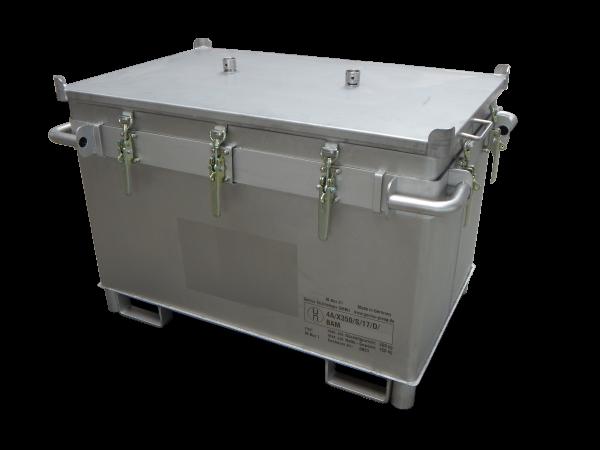 Genius Lio Guard M-Box X1 Classic Akku-Transportbehälter aus Edelstahl für Lithium-Ionen-Batterien inkl. Pyrobubbles