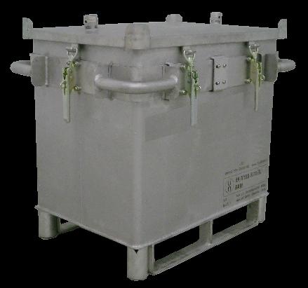 Genius Lio Guard S-Box X1 Classic Transportbehälter aus Edelstahl für Lithium-Ionen-Batterien