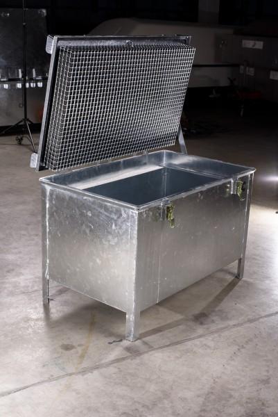 Lio Guard Storage Box 220 Akku-Lagerbehälter aus verzinktem Stahl für Lithium-Ionen-Batterien inkl. Pyrobubbles
