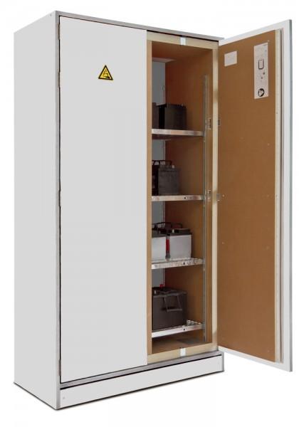 PRIOCAB-Li EI90 2-flügeliger Standschrank zur Lagerung von Lithium-Ionen Batterien / Akku-Schrank