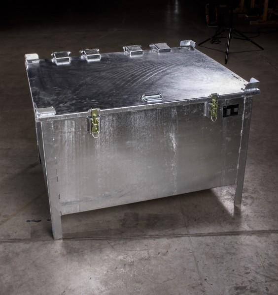 Lio Guard Storage Box 280 Akku-Lagerbehälter aus verzinktem Stahl für Lithium-Ionen-Batterien inkl. Pyrobubbles