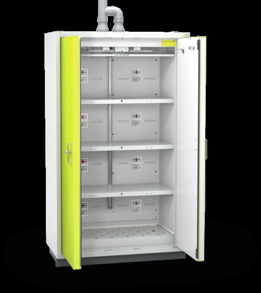 Düperthal BATTERY standard line XL  Sicherheitsschrank / Akku-Schrank (ein Lagerbereich pro Lagerebene) , Typ 90