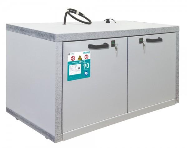 PRIOCAB-Li Typ 90 Untertischschrank 2 Schubladen für Lithium-Ionen Akkus / Akkuschrank