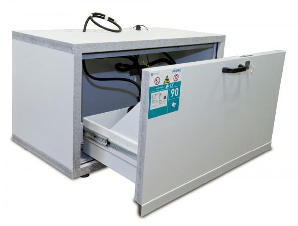 PRIOCAB-Li Typ 90 Untertischschrank breit für Lithium-Ionen Akkus / Li-Ionen-Akkuschrank