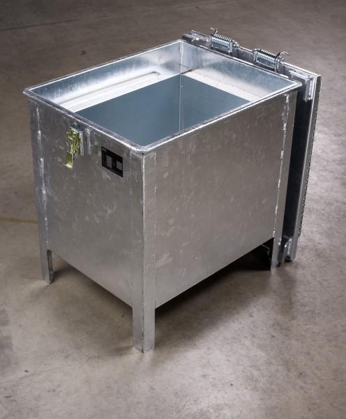 Lio Guard Storage Box 90 Akku-Lagerbehälter aus verzinktem Stahl für Lithium-Ionen-Batterien inkl. Pyrobubbles