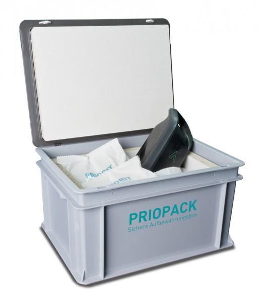 PRIOPACK Lagerbehälter zur sicheren Aufbewahrung von Lithium-Ionen-Akkus groß