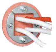 Feuerfeste Kabeldurchführung PEXTBALI an der Unterseite (max. 4 Kabel)