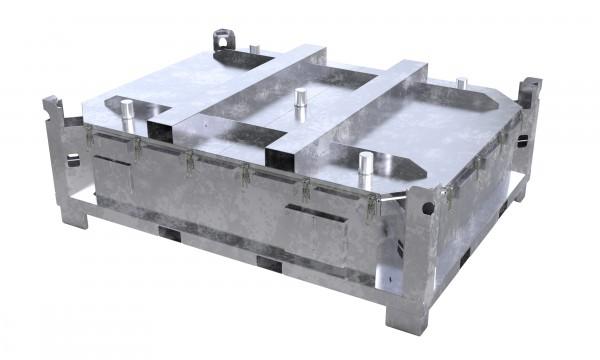 Genius Lio Guard LP1-Box Basic Akku-Transportbehälter aus verzinktem Stahl für Lithium-Ionen-Batterien inkl. Pyrobubbles