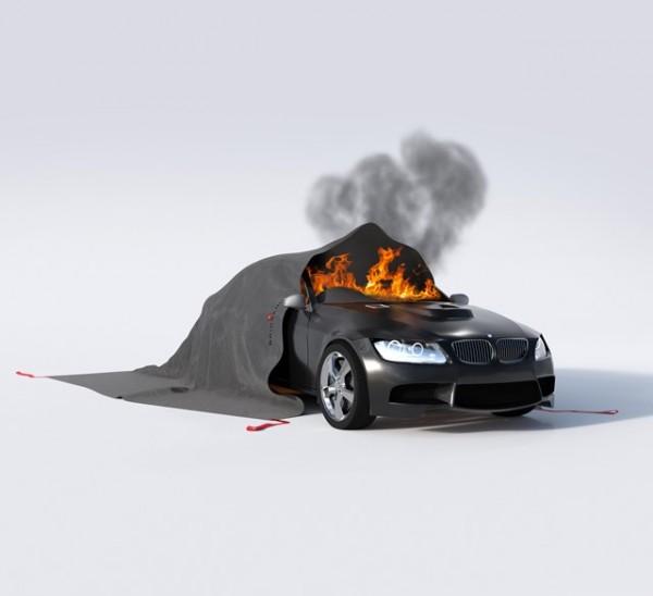 BRIDGEHILL Car Fire Blanket PROFESSIONAL V4 Löschdecke - wiederverwendbar - für Elektrofahrzeuge / E-Autos und Verbrenner