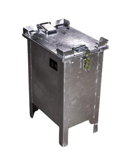 Lio Guard Storage Box 30 Akku-Lagerbehälter aus verzinktem Stahl für Lithium-Ionen-Batterien inkl. Pyrobubbles