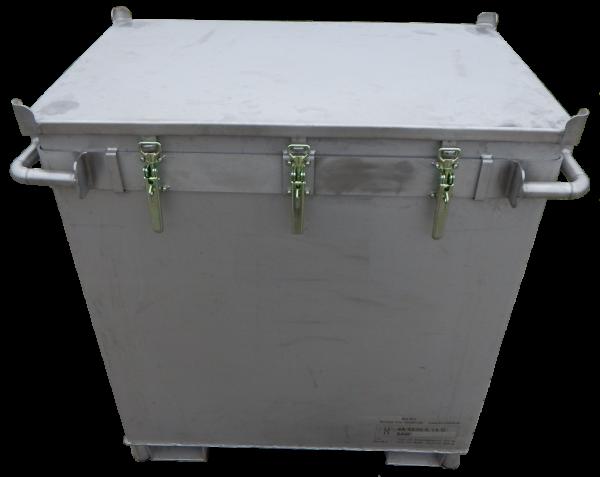 Genius Lio Guard M-Box X2 Classic Akku-Transportbehälter aus Edelstahl für Lithium-Ionen-Batterien inkl. Pyrobubbles