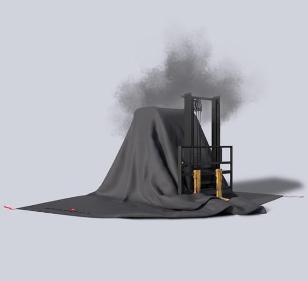 BRIDGEHILL Forklift Fire Blanket Big Löschdecke für Flurförderzeuge und Elektrofahrzeuge / E-Autos