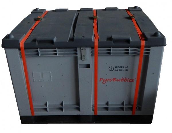 Genius Lio Guard M-Box Premium Kunststoff-Behälter für Li-Ionen-Akkus inkl. Pyrobubbles