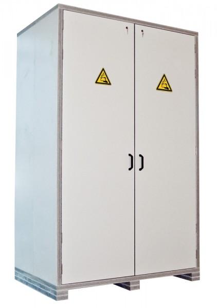 PRIOBOX Feuerbeständige Batteriebox - unmontiert auf Palette