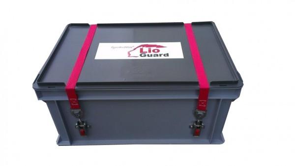 Genius Lio Guard S-Box 1 Advanced Kunststoff-Behälter für Li-Ionen-Akkus inkl. Pyrobubbles