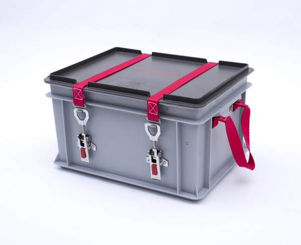 Genius Lio Guard XS-Box 1 Basic Kunststoff-Behälter für Li-Ionen-Akkus inkl. Pyrobubbles